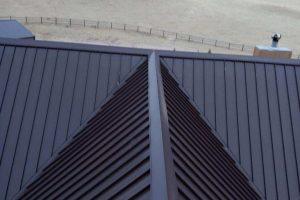 Sheffield Snaplock Panel Mansard Brown Metal